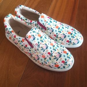 Monkey Feet Mommy & Me Floral SlipOn Shoes Leather